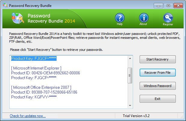 Password Recovery Bundle 2014  Get the software safe and easy
