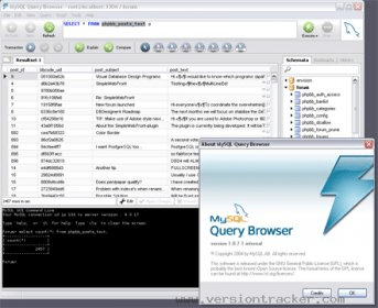 mysql query browser 1.2.17