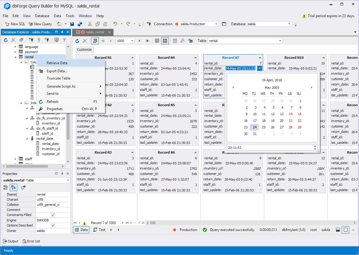 Database Explorer