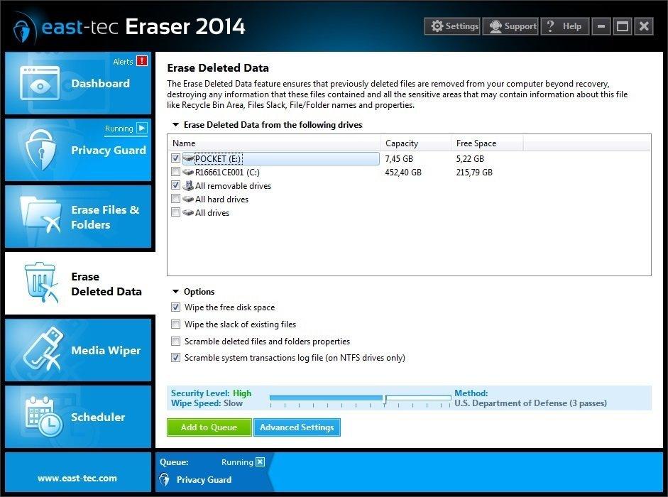 Erase Deleted Data