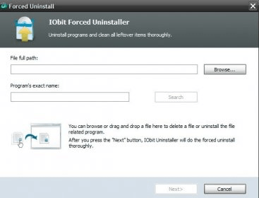 forced uninstall