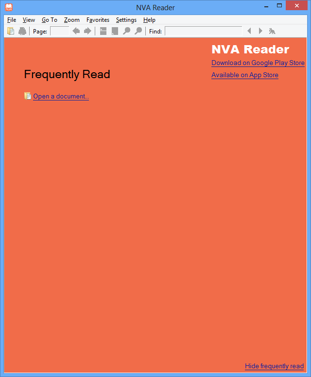 NVA Reader Download - EBook reader that opens NVA files