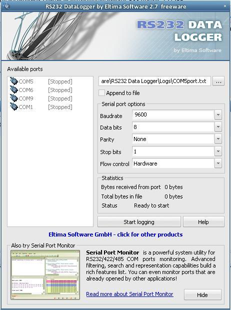 RS232 Data Logger 2 7 Download (Free) - DataLogger exe