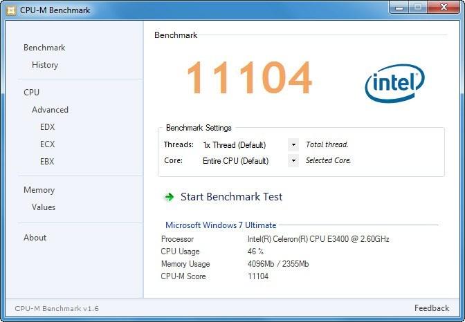 Benchmark Test Window