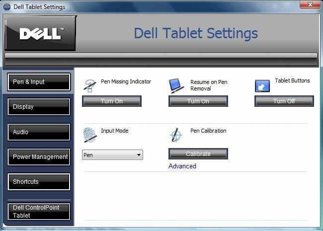 Tablet Settings
