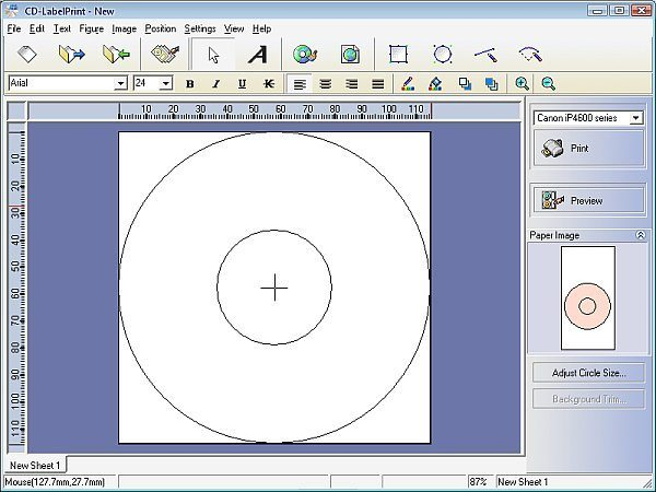canon cd label print software free download
