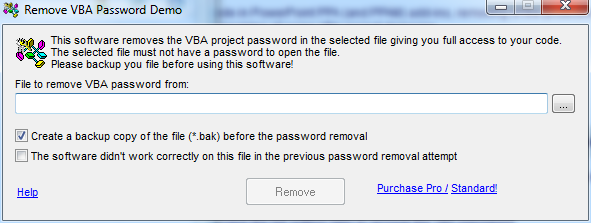 Remove VBA Password  Get the software safe and easy