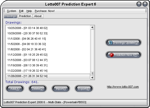 Lotto007 Prediction Expert  Get the software safe and easy