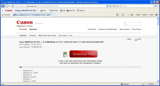 canon easy webprint download
