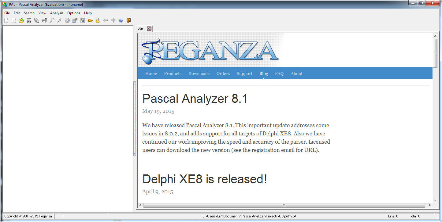 Pascal Analyzer Download - App that allows you to analyze