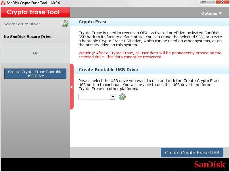 SanDisk Crypto Erase Tool 1 0 Download (Free) - CryptoErase exe