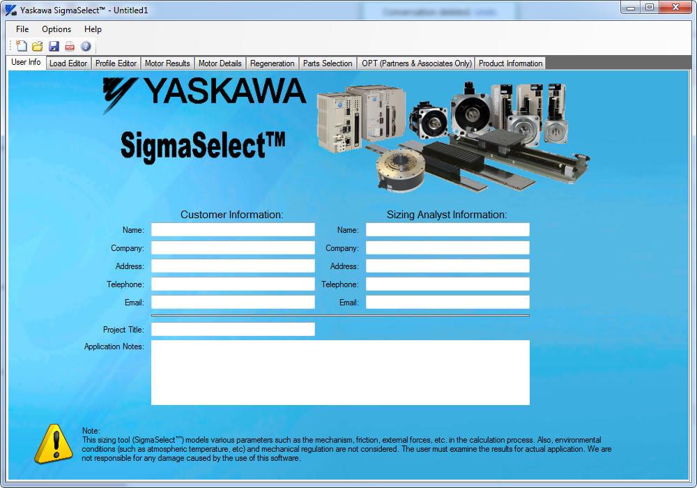 YASKAWA SigmaSelect - Software Informer  SigmaSelect allows you to