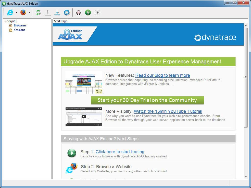 dynaTrace AJAX Edition 4 5 Download (Free trial) - dtajax exe