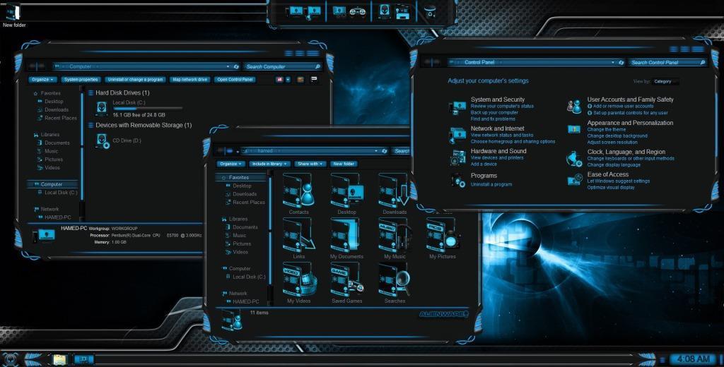 alienware themes windows 7 64 bit free download