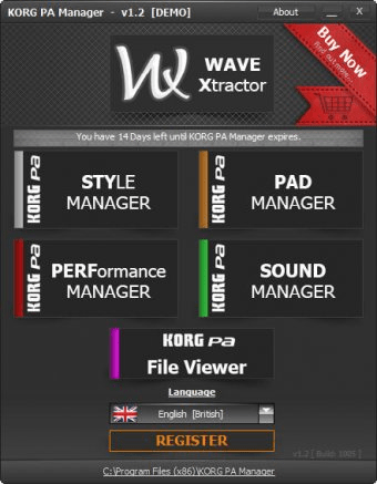 KORG PA Manager 3 1 Download (Free trial) - KORGPAManager exe