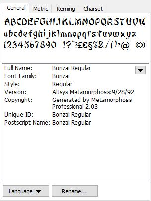 Font properties