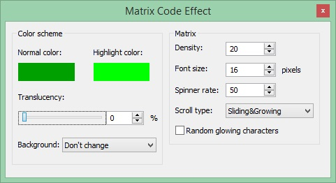 Matrix Code Effect