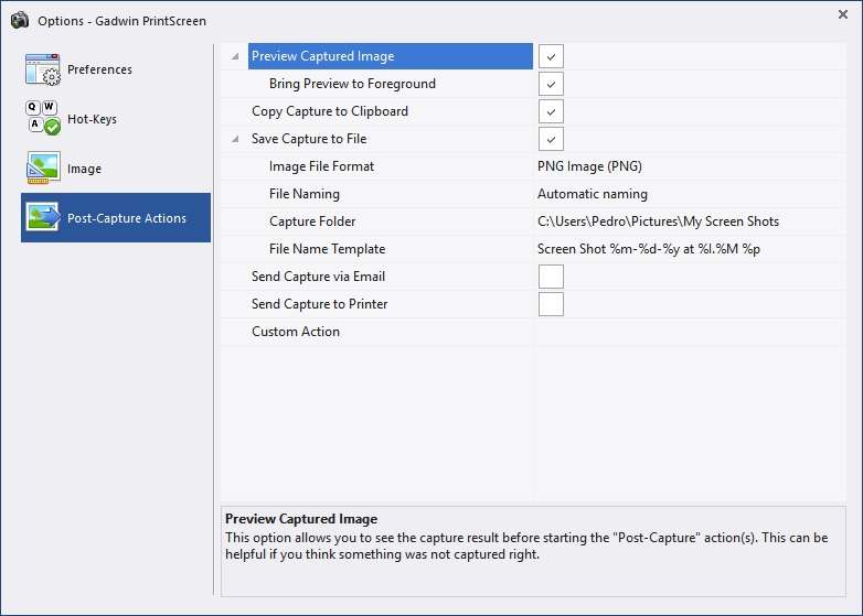 Gadwin PrintScreen Download - Capture still images directly
