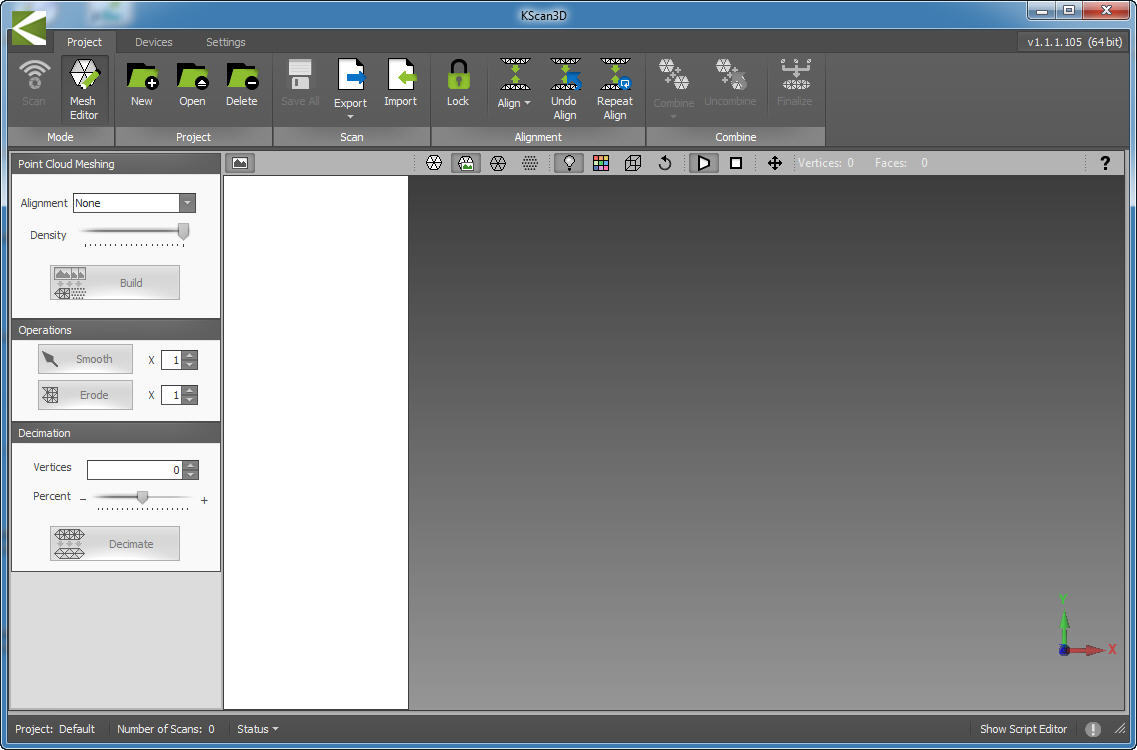 Kinect V2 Scanning Software