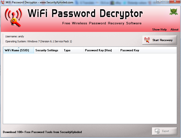 WiFi Password Decryptor Download - Recover your lost