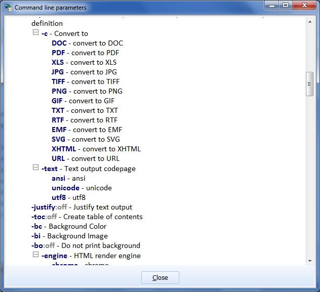 Command-Line Parameters