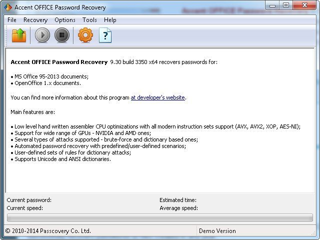 Accent OFFICE Password Recovery  Get the software safe and easy