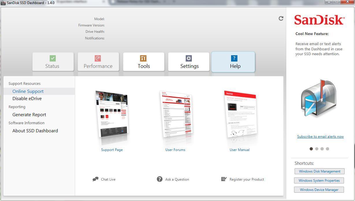 SanDisk SSD Dashboard 1 4 Download (Free) - cmd exe