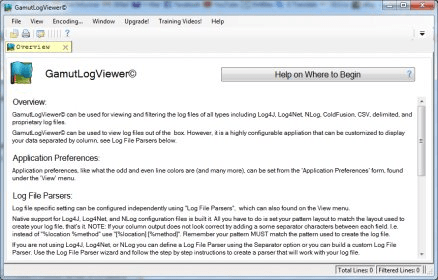 GamutLogViewer Download - A viewer that works with Log4J