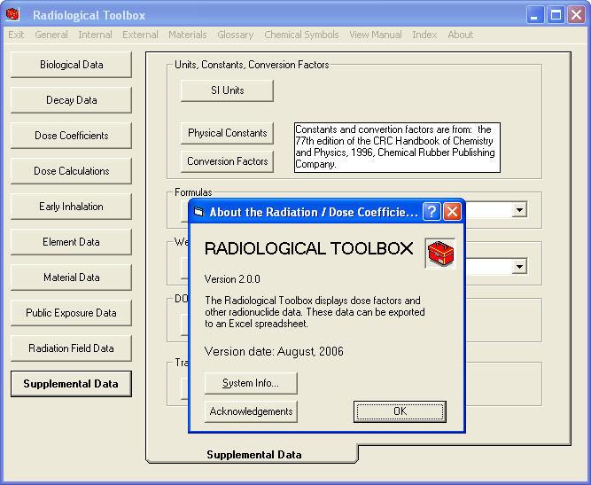 دانلود نرم افزار داده های حفاظت پرتوی rad toolbox