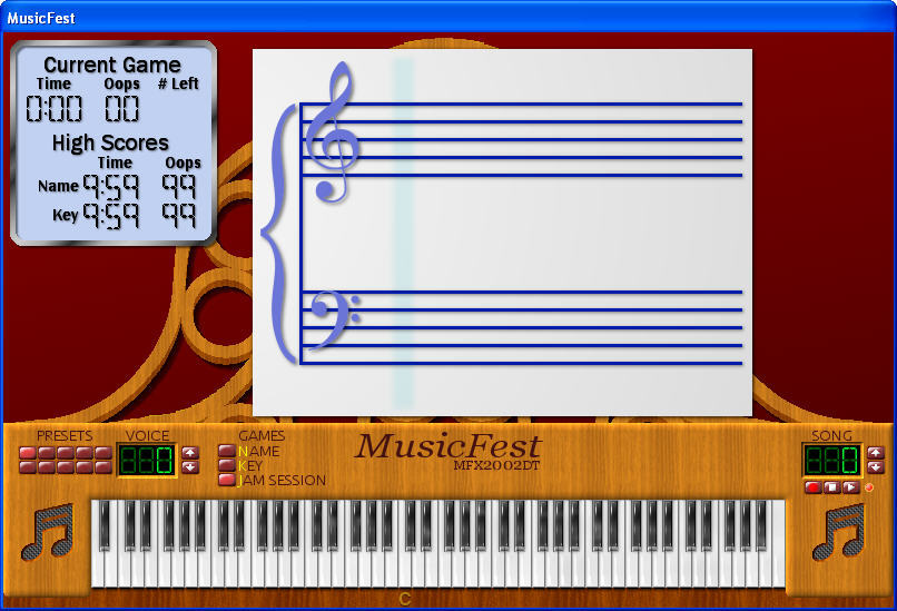 MusicFest interface