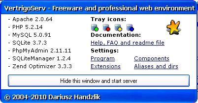 Main program's window