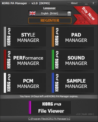 KORG PA Manager 2 0 Download (Free trial) - KORGPAManager exe