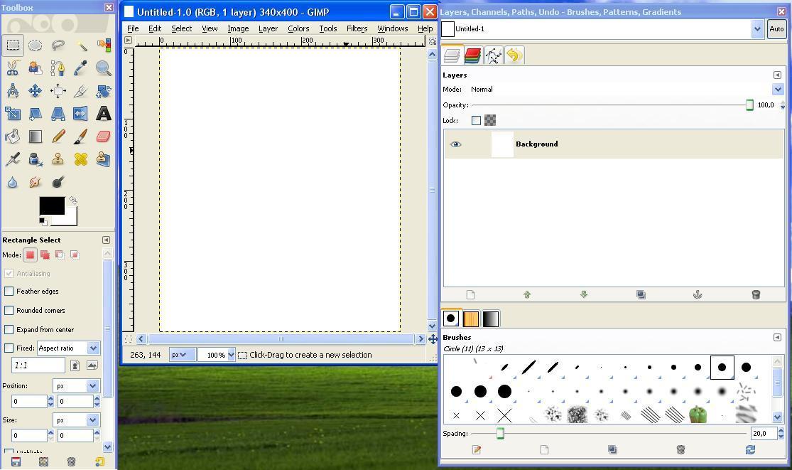 Screenshot of the main window
