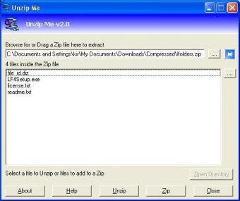 UnZip Me 2 0 Download (Free) - UnZipMe exe