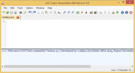 GUI Turbo Assembler 2 2 Download - GUI Turbo Assembler exe