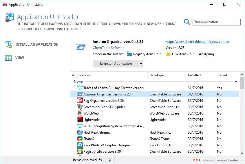 Application Uninstaller