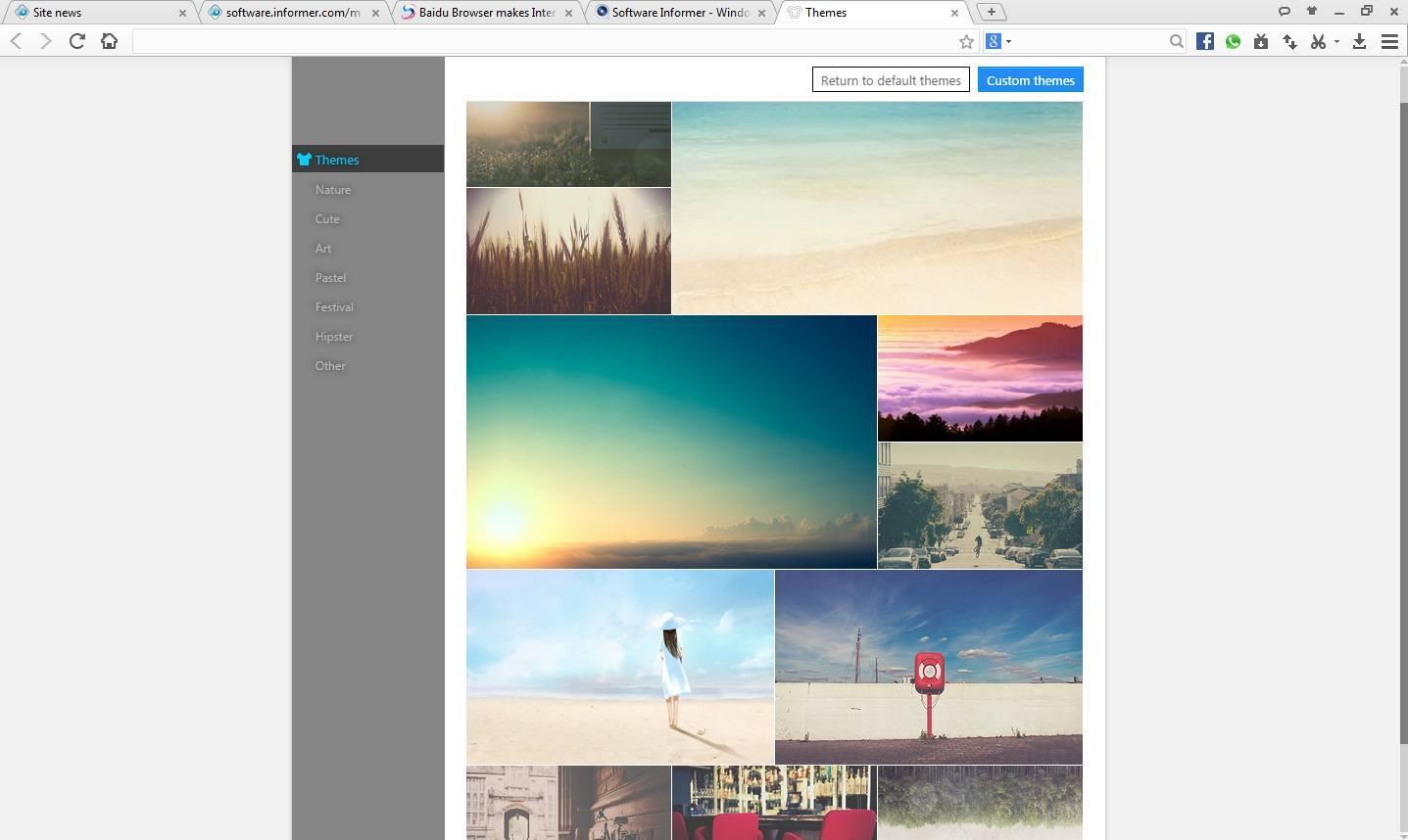 Baidu Browser Themes window