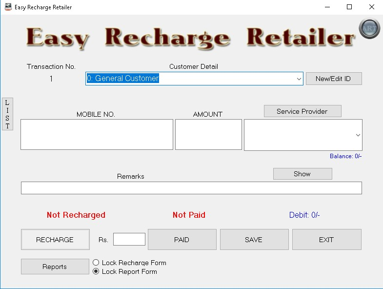 Easy Recharge Retailer 2 3 Download (Free) - EasyRechargeRetailer exe