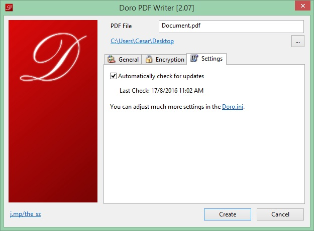 Doro Download - Create full-color PDF files from any Windows