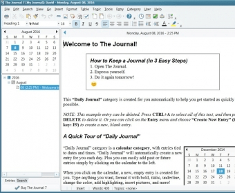 The Journal 3 0 Download (Free trial) - Journal4 exe