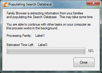 Populating Search Database