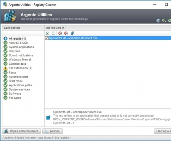 argente registry cleaner 3.0.0.1