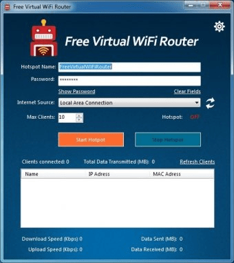Free Virtual WiFi Router 6 4 Download (Free