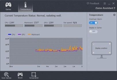 Game Assistant temperature