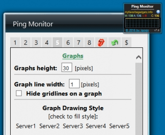 Ping Monitor Download - Desktop gadget that can ping up to