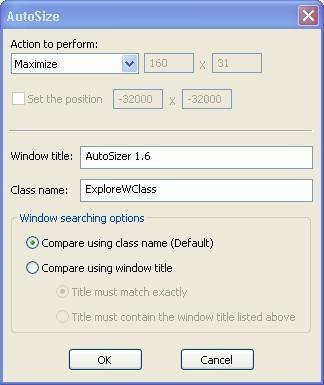 Autosize window