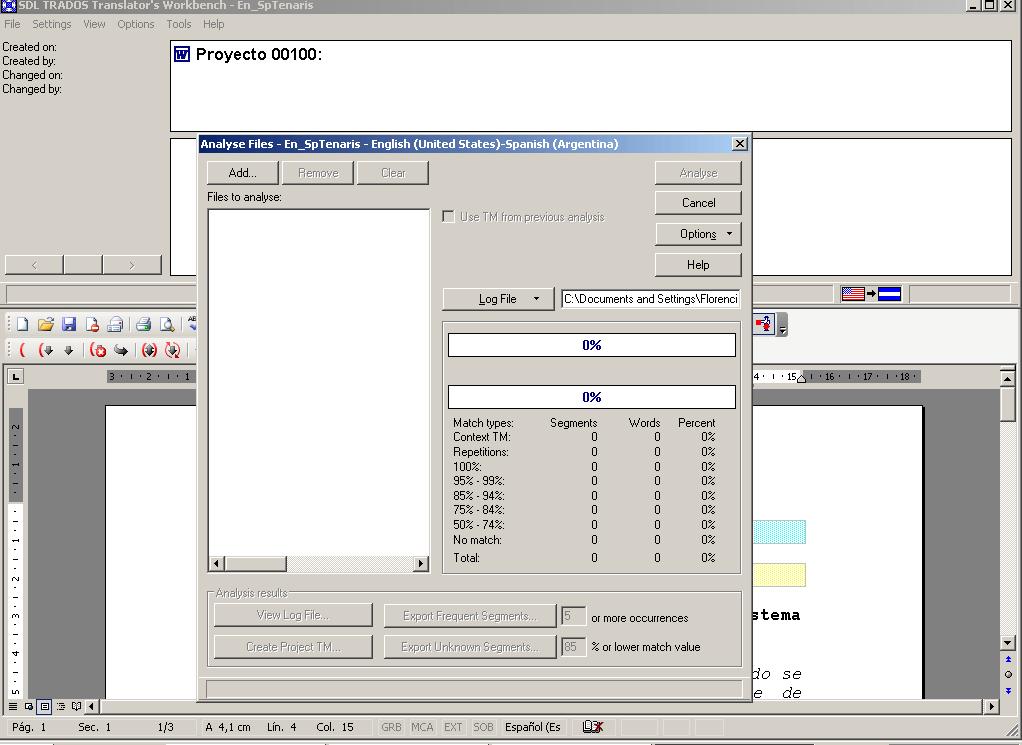Updating Translation Memory