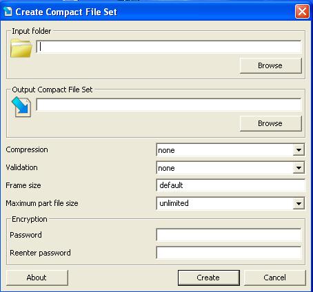 Create compact file set