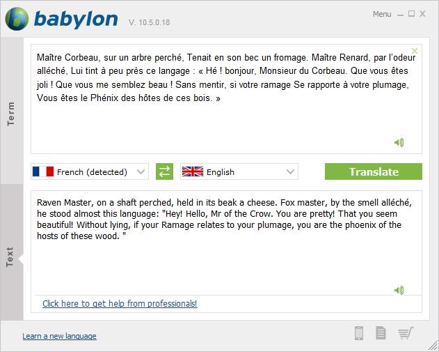 Translating Text