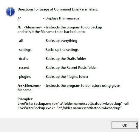 Commandline Switches